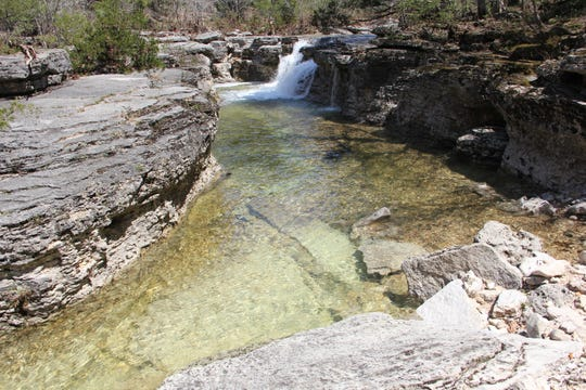 Conservation, education, recreation is the focus of the Ozark Society, which seeks to protect treasures like these falls at Hercules Glades Wilderness Area.