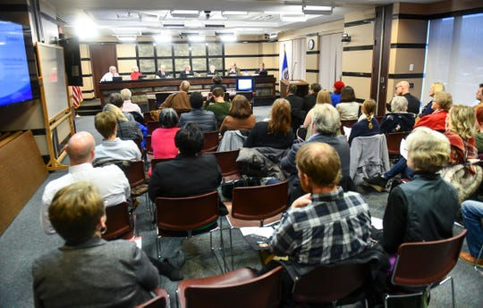 The Stearns County Board of Commissioners discusses refugee resettlement during a meeting Tuesday, Jan. 7, 2020, at the Stearns County Administration Center in St. Cloud.