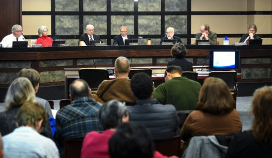 The Stearns County board discuss refugee resettlement during a meeting Tuesday, Jan. 7, 2020, at the Stearns County Administration Center in St. Cloud.