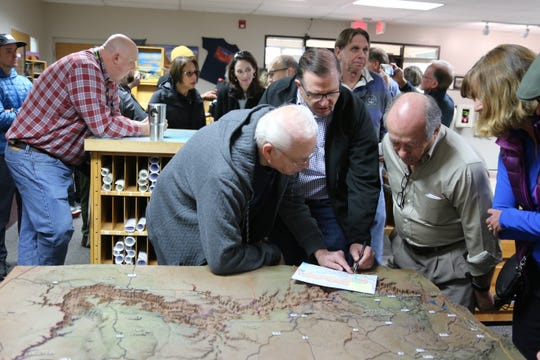 Members of the public and Conserve Southwest Utah present public comments related to the Northern Corridor at the Bureau of Land Management.