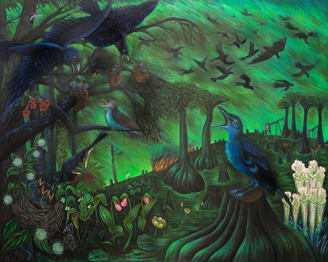 "Alexa Kleinbard's ""Messengers,"" is part of the Twilight in the Garden show opening Friday at Gadsden Arts."