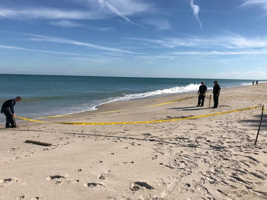 Jeff Emlet, 37, of Vero Beach, uncovered what local officials said was a land mine  on a stretch of beach off Reef Road, which was an area used during WWII to practice for D-Day invasions of Normandy, France.
