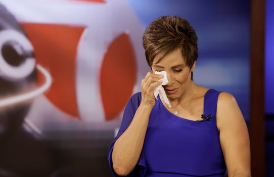 News anchor and long-time journalist Estela Casas is surprised by the outpouring of love during the 5pm newscast Monday.   Casas signed off following the 10pm newscast after almost 27 years at KVIA, the ABC affiliate in El Paso. Casas worked for another 10 years at other stations in the city. Tears and laughter filled her final newscasts as the station prepared several tributes which were played on air. She will now serve as executive director of the University Medical Center Foundation and the El Paso Children's Hospital Foundation.