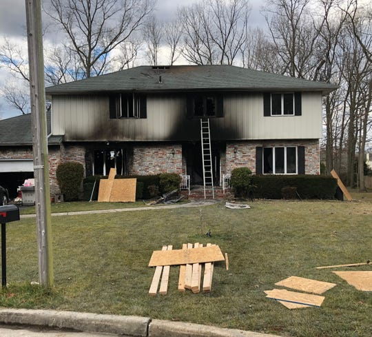 Four people were displaced after a fire severely damaged a house along Driftwood Lane, Vineland. Jan. 6, 2020