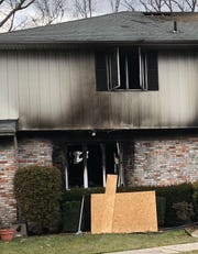 A fire raced through a house at the end of the Driftwood Lane cul-de-sac in Vineland. Jan. 6, 2020
