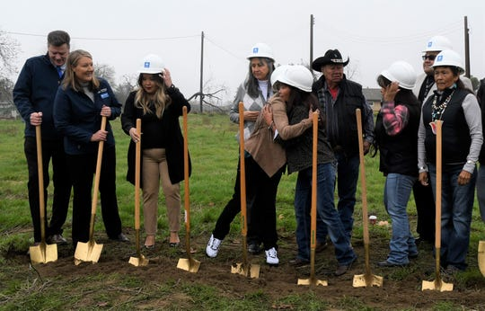 The Tule River Indian Housing Authority and Self-Help Enterprises break ground at Nupchi Xo' Oy, an affordable rental housing complex in Porterville.