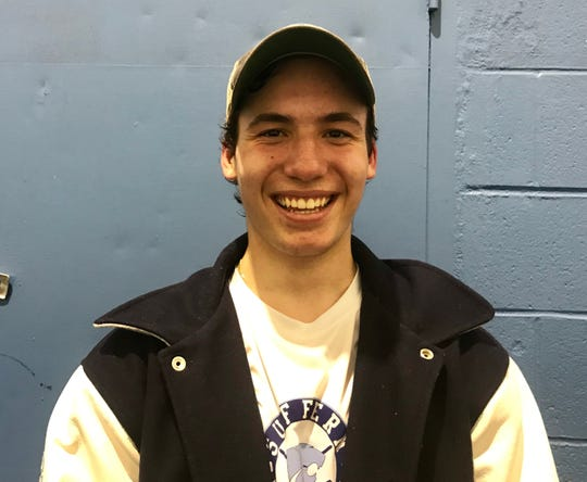 Suffern goalie Jared Packman, who had 47 saves in a 5-3 upset win over Don Bosco Jan. 3, 2019