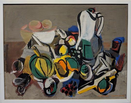 """""""Still Life In Grey,"""" Vaclav Vytlacil, 1945.   Courtesy of JoAnn Zucker"""