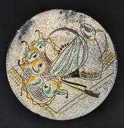 Ceramic plate from the Rockland artist Henry Varnum Poor. Courtesy of Peter Poor