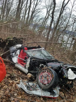 This is the car involved in the crash on Route 9 in Croton-on-Hudson.