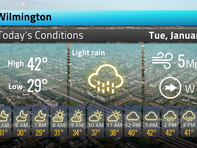 Your Delaware weather forecast for Tuesday January 7
