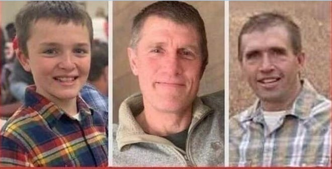 A GoFundMe site raised over $134,000 for the Boesl family of Minnesota who lost three family members, from left, Alex Boesl, and his father, Curt Boesl and uncle Steve Boesl after they were overcome by deadly silo gas.