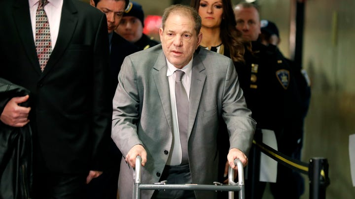 Harvey Weinstein arrives to court Tuesday for the start of jury selection.