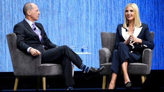 Ivanka Trump speaks on the future of work at CES 2020 in Las Vegas