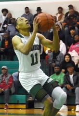 Peabody's Marcus Jones goes for a layup against Lafayette Christian Tuesday, Jan. 7, 2020. Peabody won 86-66.