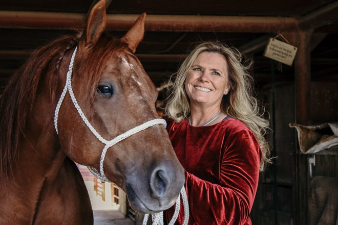 Lari Dee Guy said a good horse is essential to a good performance in the rodeo arena.