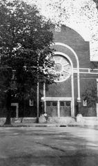 The Sons of Israel Synagogue on Exchange Street, about 1920.