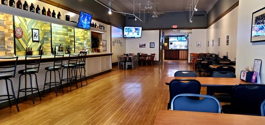 1803 Brewery & Taproom offers plenty of seating from low-tops to bar-style seating.