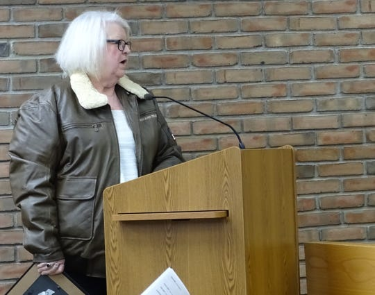 Carolyn Shireman addresses Bucyrus City Council on Tuesday.