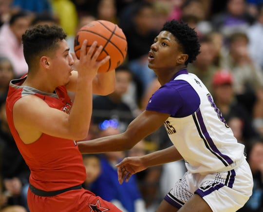 Miller faces Ray in a basketball game, Tuesday, Jan. 7, 2020, at Miller High School. Ray won in overtime, 79-73.