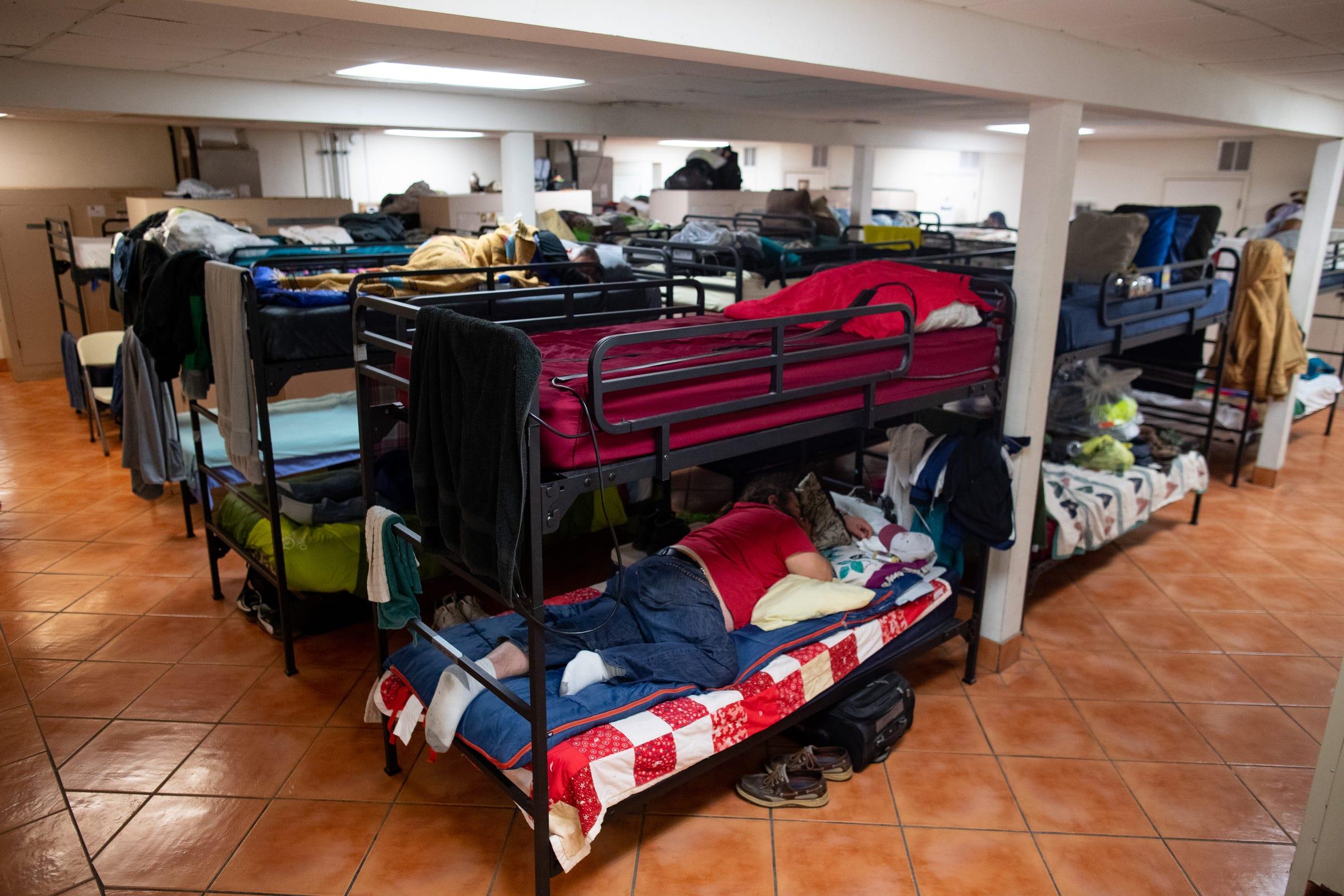 Mens dorm quarters at Good Samaritan Rescue Mission located on 200 block of S Alameda Street.