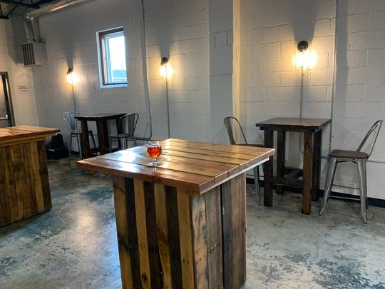 High top drink tables at Armageddon Brewing in Somerdale.