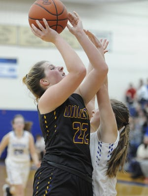Unioto's Cree Stulley goes up for a layup during a 47-39 win over Southeastern on Tuesday Jan. 7, 2020 at Southeastern High School in Chillicothe, Ohio.