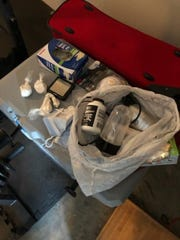 Drugs confiscated during a search warrant at Louis James Cooper's home.