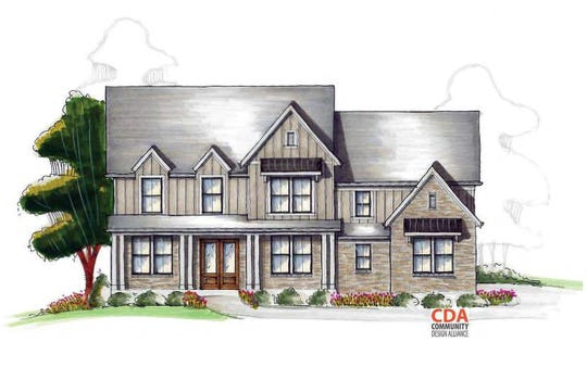 RIC Construction provided this renderinganother home style in the Crescent Moon subdivision.