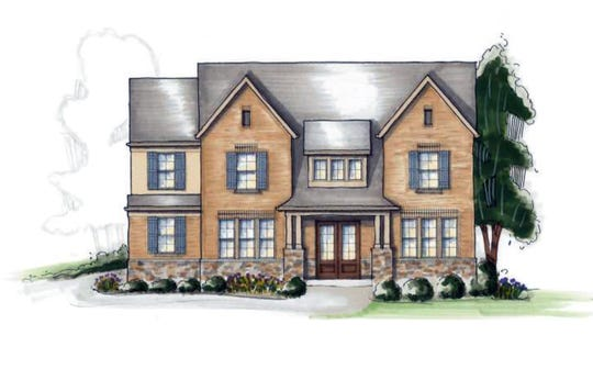 RIC Construction provided this rendering of how some homes in the Crescent Moon subdivision will look