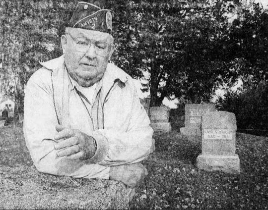 From 1999: Former state Sen. Don Murray visits Valley View Cemetery, near Camp Dodge, north of Des Moines. Rumors say the cemetery has a mass grave containing 1918 flu epidemic victims.