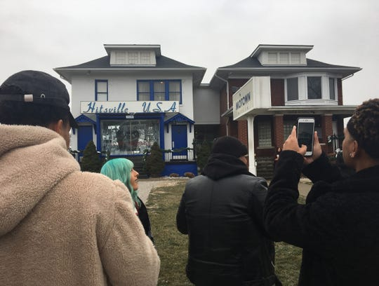 Young Motown artists visit Detroit's Motown Museum — Hitsville, U.S.A. — on Dec. 10, 2018.