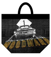 A reusable bag offered at the Meijer's Woodward Corner Market include a nod to Woodward Avenue and the Dream Cruise.