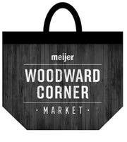 A reusable bag offered at the Meijer's Woodward Corner Market can be used 125 times.