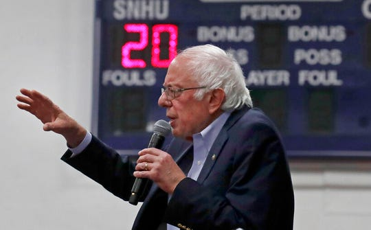 In this Dec. 13, 2019, file photo, Democratic presidential candidate Sen. Bernie Sanders, I-Vt., speaks at a campaign event in Manchester, N.H.