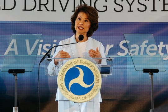 U.S. Transportation Secretary Elaine Chao announced Wednesday new voluntary safety guidelines for self-driving cars, continuing to rely on the industry to police itself despite calls for specific regulations.
