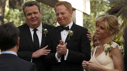 "Mitch and Cam get married in the 2014 season finale of ABC's ""Modern Family."" The series will air its finale after 11 seasons on April 8, 2020, ABC announced on Wednesday."
