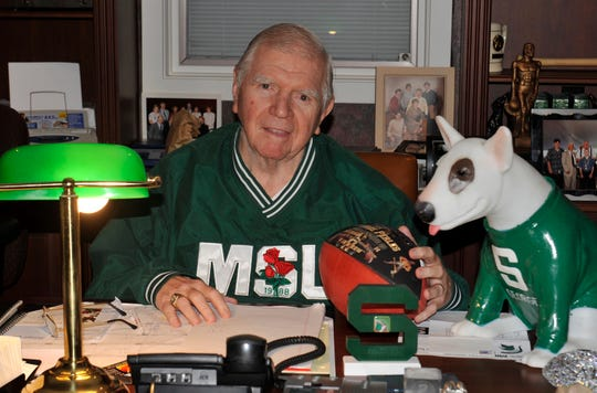 Former Michigan State head football coach and athletic director George Perles died Tuesday night at age 85.