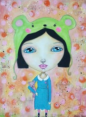 A Boska Betsi painting by Beata Marczak, who has art on display at the Refinery in Newburgh.