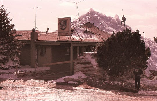 A giant ice shove took out the Nimitz Tavern on Lake Winnebago in 1977.