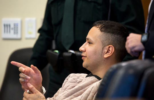 Accused Zombicon shooter Jose Bonilla appears in court on Wednesday, Jan. 8, 2020, for a motions hearing before his murder trial. He is accused of killing Expavious Tyrell Taylor and wounding five others in the 2015 shooting. Bonilla's trial is scheduled to begin Monday.