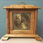 One of blind clockmaker Jim Morgan's clocks.