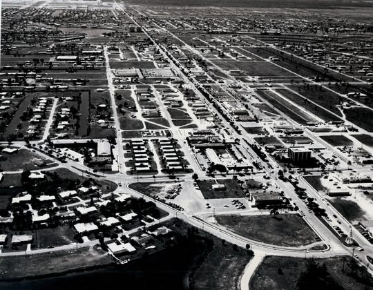 This aerial photo of Cape Coral was taken in 1971.