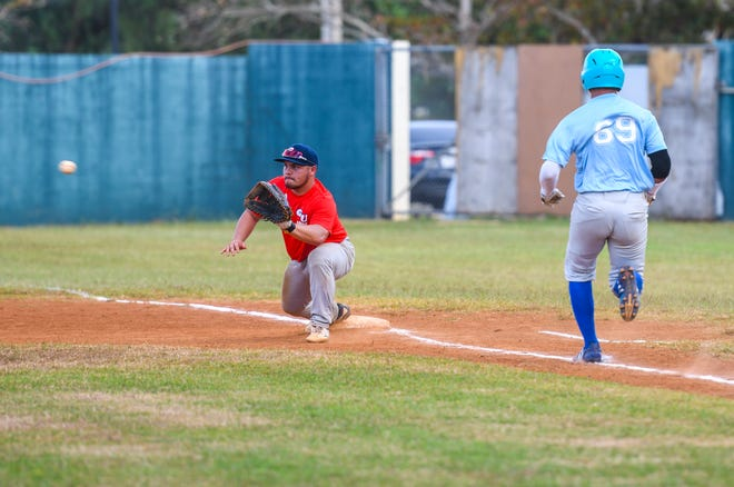 In this photo from early in the tournament, Guam faces the CNMI during the third day of play of the 3rd Micronesian Baseball Classic Jan. 8, 2020 at the Paseo Stadium.