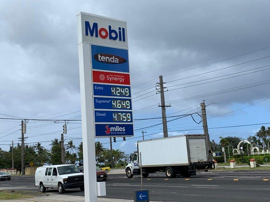 Mobil gas prices as of Jan. 8, 2020.