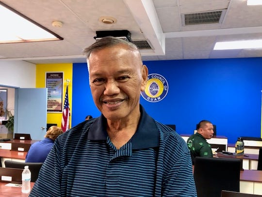 Asan-Maina Mayor Frankie Salas recalls the day a man brought to his office a live World War II grenade that bomb experts, he said, picked up about 45 minutes after being called for help.