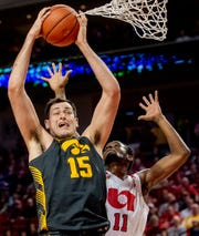 Ryan Kriener is the newest member of Iowa's starting lineup, in for shooting guard CJ Fredrick (foot injury). The senior center knows he must start making some perimeter shots to help take the load off of Luka Garza inside.