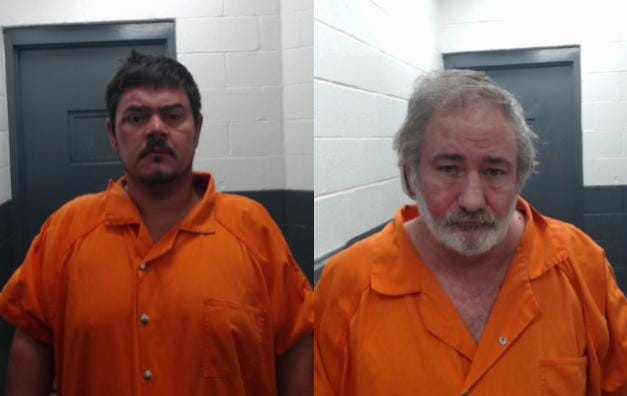 Joe King, 40, left, and Michael Hockaday, 59, right, face charges after a McNairy County Sheriff's deputy found a body in the back of a van in Selmer on Jan. 2, 2020.