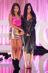 """Hannah Ann Sluss and  Victoria F compete on """"The Bachelor."""""""