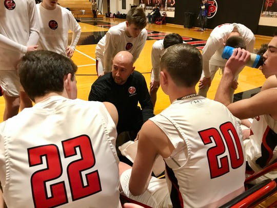 Clinton Prairie coach Chad Peckinpaugh discusses strategy prior to playing Central Catholic.
